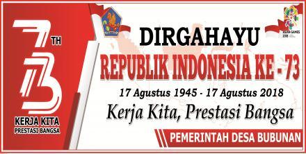 DIRGAHAYU REPUBLIK INDONESIA KE - 73